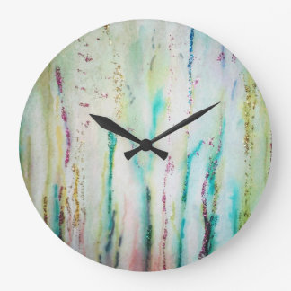 Shimmering Grass Large Clock