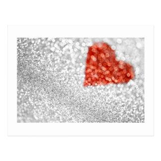 Shimmering Heart Postcard