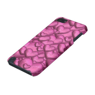 Shimmering hearts pink iPod touch 5G case