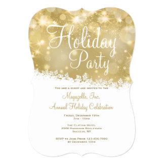Shimmering Holiday Party Invitation