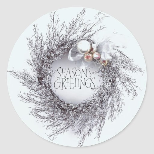 Shimmering Holiday Wreath Sticker