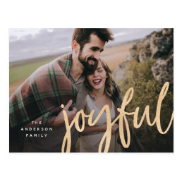 Shimmering joyful Holiday Photo Post Card