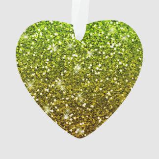 Shimmering Light Green Gold Glitters