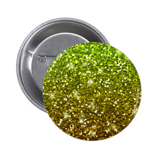 Shimmering Light Green Gold Glitters Button