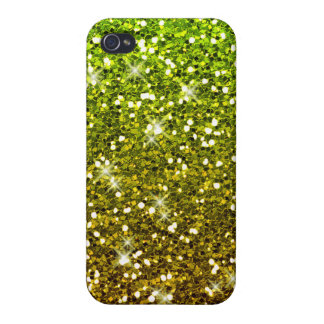 Shimmering Light Green Gold Glitters iPhone 4/4S Covers