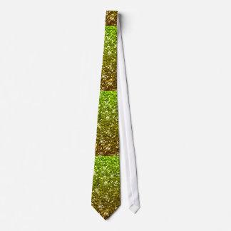 Shimmering Light Green Gold Glitters Tie
