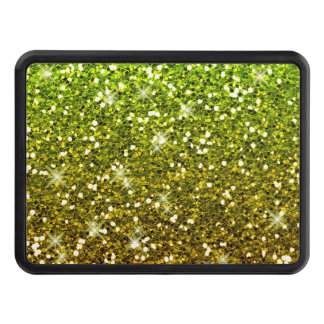 Shimmering Light Green Gold Glitters Tow Hitch Cover