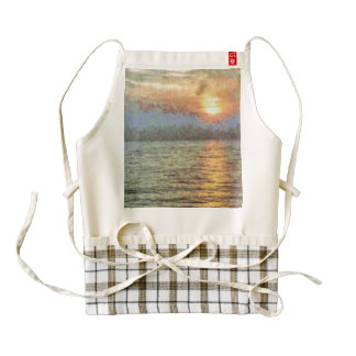 Shimmering light over the water zazzle HEART apron