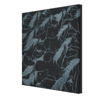 Shimmering  manes and tails, 4, Charli Windsor Canvas Print