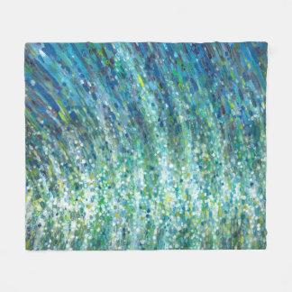 Shimmering Ocean Waves 30x 40 Fleece Beach Blanket