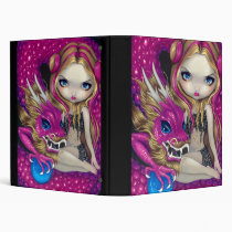artsprojekt, art, fantasy, chinese dragon, asian dragon, chinese, dragon, china, asian, dragons, elf, elven, elves, elfin, guardian, pink dragon, blue, blue eyes, pink, dragonling, dragonlings, blonde, blond, blonde fairy, eye, eyes, big eye, big eyed, jasmine, becket-griffith, becket, griffith, jasmine becket-griffith, jasmin, strangeling, artist, goth, gothic, fairy, Fichário com design gráfico personalizado