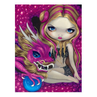 """Shimmering Pink Dragon"" Postcard"