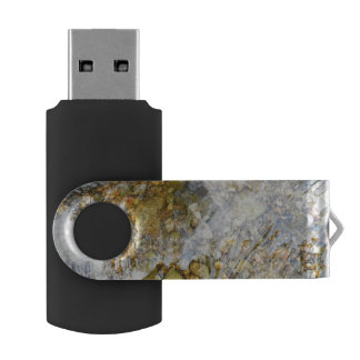 Shimmering River Bed Flash Drive Swivel USB 3.0 Flash Drive