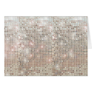 Shimmering Sequins Thank You  Note Card