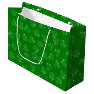 Shimmering Shamrocks Large Gift Bag