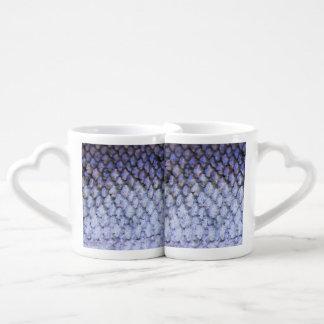 Shimmering Silver Salmon Coffee Mug Set