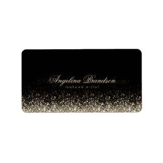 Shimmering Silver Star Makeup Artist Label