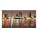 Shimmering skyline of Miami Florida Photo Greeting Card