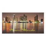 Shimmering skyline of Miami Florida Picture Card