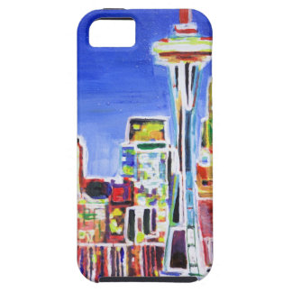 Shimmering Skyline Of Seattle With Space Needle Case For iPhone 5/5S