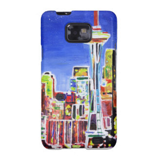 Shimmering Skyline Of Seattle With Space Needle Samsung Galaxy SII Cover