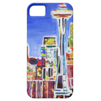 Shimmering Skyline Of Seattle With Space Needle iPhone 5 Cover