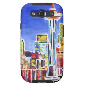 Shimmering Skyline Of Seattle With Space Needle Samsung Galaxy SIII Case