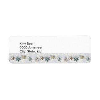 Shimmering Snowflakes Return Address Label