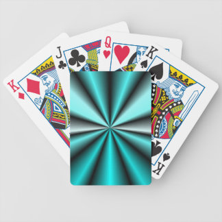 Shimmering Teal Satin Bicycle Playing Cards