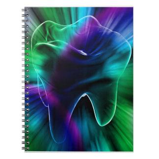 Shimmering Tooth Design Dentist Notebook