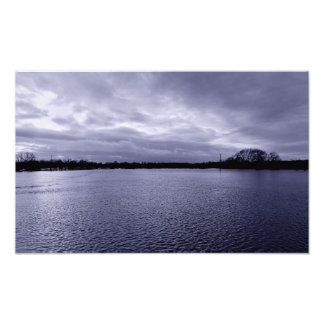 Shimmering water photo print