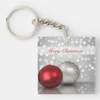 Shimmery Christmas Ornaments - Acrylic Keychain