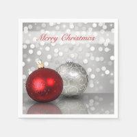 Shimmery Christmas Ornaments - Paper Napkin