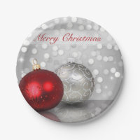 Shimmery Christmas Ornaments - Paper Plate