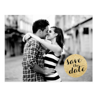 SHIMMERY CIRCLE | SAVE THE DATE ANNOUNCEMENT POSTCARDS