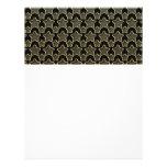 Shimmery Dots In Golden Stars On Black Customized Letterhead