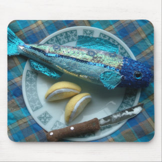shimmery fish soft sculpture mouse pad