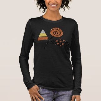 Shimmery Halloween Candy Bella Relaxed Fit Long Sleeve T-Shirt