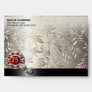 Shimmery Las Vegas Art Deco Casino | silver black Envelopes