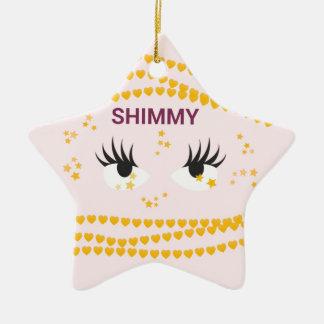 Shimmy.pink Ceramic Ornament