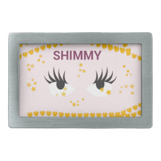 Shimmy.pink Rectangular Belt Buckle