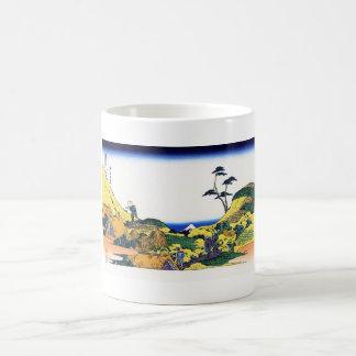 Shimomeguro katsushika Hokusai Fuji view Classic White Coffee Mug