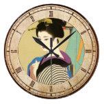 Shimura Tatsumi dos temas de mujeres japonesas Relojes