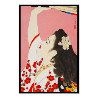 Shimura Tatsumi Five Figures of Modern Beauties Poster