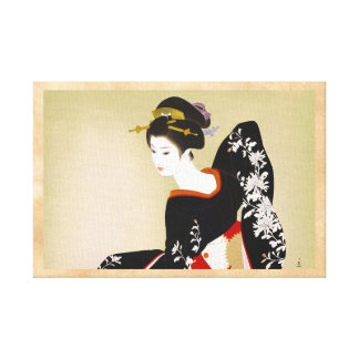 Shimura Tatsumi Two Subjects of Japanese Women Gallery Wrap Canvas