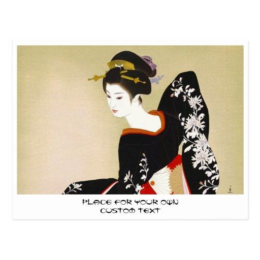 Shimura Tatsumi Two Subjects of Japanese Women Postcards