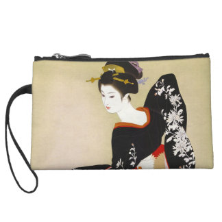 Shimura Tatsumi Two Subjects of Japanese Women Wristlet Wallet