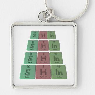 Shin  as Sulfur Hydrogen Indidum Keychains