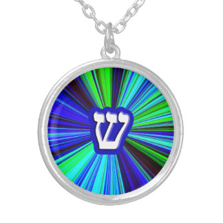 Shin, Sin - 3D Effect Silver Plated Necklace