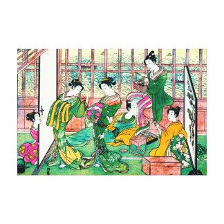 Shinagawa Brothel 1774 Stretched Canvas Print